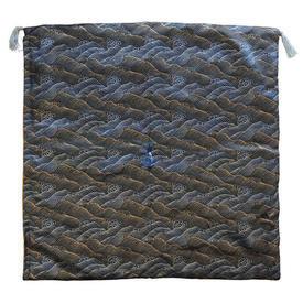 """Floor Cushion 26"""" x 26"""" Gunmetal Japanese Wave Metallic Brocade"""