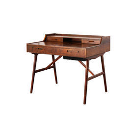 Rosewood Dressing Table with Drop Down Mirror