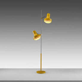 1970S Yellow Twin Spotlight Floor Lamp