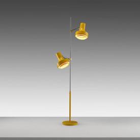 1970S Yellow Twin Spotlight Floor Lamp