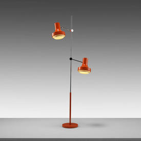 1960S Orange Twin Spotlight Floor Lamp