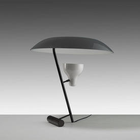 Black & Grey Shade Spotlight Model 548 Umbrella Table Lamp