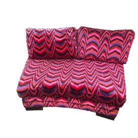 Pink, Orange & Black Cushion Back Zig Zag Seat Unit