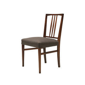 Rosewood Spindle Back Chair with Brown Houndstooth Seat