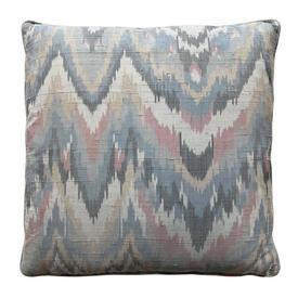 "Cushion 15"" x 15"" Grey Flame Print Shantung"