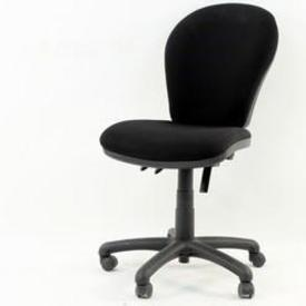 Black Fabric Occasional/Elbow Typist Chair