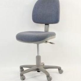 Light Blue Fabric/Grey Frame 'R.R' Occasional Typist Chair