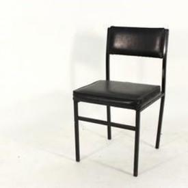 Black Vinyl Speight Stacking Occ Chair