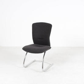 B Kite Grey Fabric Cantilever Occasional Chair