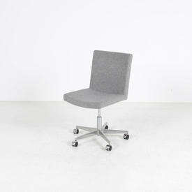 Grey Fabric inno Occ Swivel Chair on Polished Ali Base