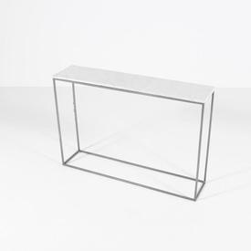 Conran Rect White Marble Top Steel Frame Chelsea Console Tab
