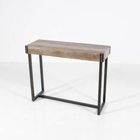 Rect Studded Metal Frame Pale Wood Dalton Vmf Console Table