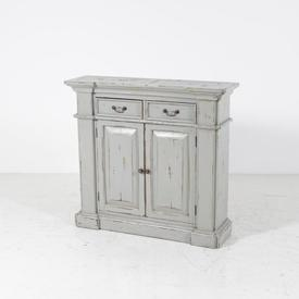 2 Drawer 2 Door Distressed Duck Egg Fire Place Style Sideboard