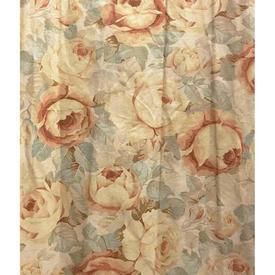 """Pair Drapes 4'3"""" x 1'9"""" Sand Jason De Souza Roses Print Linen Sale 15.00 ea"""