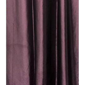 "Pair Drapes 7'6"" x 7'6"" Purple Faux Silk Taffeta"