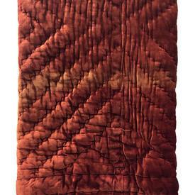 "Quilt 8' x 4'9"" Rich Rust Velvet"