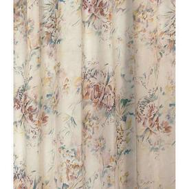 """Pr Nets 4' x 3'7"""" Cream / Dark Orange / Turquoise Floral Print Lawn"""