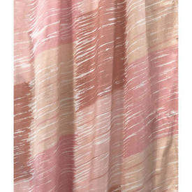 """Pair Drapes 5'3"""" x 12' Rose / Apricot Toli Brushstrokes Print"""