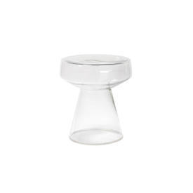 Circular Clear Glass Lamp Table