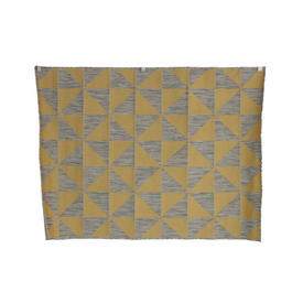 185Cm X 133Cm Yellow & Grey Triangle Patt 'in & Out' Rug