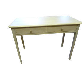 106Cm X 50Cm Soaped Oak Hudson 2 Drawer Dressing Table
