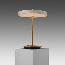 Brass ''Asteria'' Led Table Lamp with Cream Disc Shade