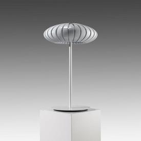 White ''Maranga'' Table Lamp with White Perspex Segmented Shade