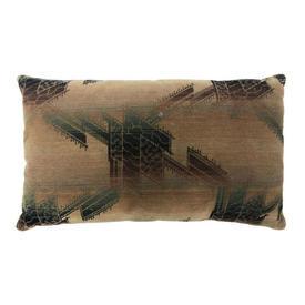 """Cushion 15"""" x 24"""" Sand / Bottle Geo Print Moquette"""
