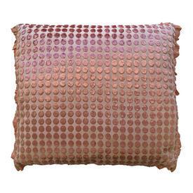 """Cushion 18"""" x 20"""" Apricot Spot Cut Silky Panne"""