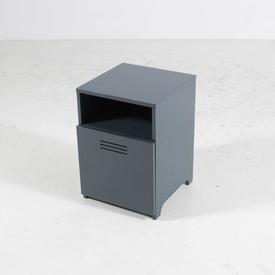 Graphite Grey Open Top with Vented Door Bedside Cabinet