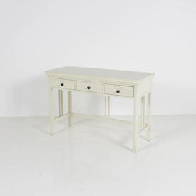 Off White 3 Drawer Twin Bar Sided Dressing Table