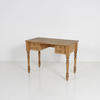 Scrubbed Pine 2 Drop Drawer Turned Leg Dressing Table