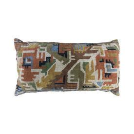 "Floor Cushion 21"" x 39"" Ginger Aztec Patt Chenille"