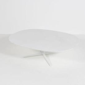 White Ovoid Mkb Dizzie 4 Prong Or Disc  Base Coffee Table