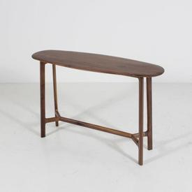 120Cm Oval Top Walnut Madrid Console Table