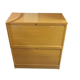Oak 2 Tambour Door Kinnarps 3' X 3' Cupboard