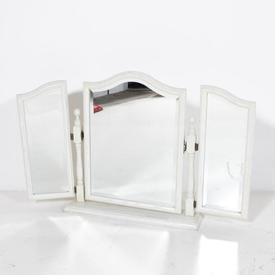 Triple White 3 Fold Free Standing Dressing Table Mirror