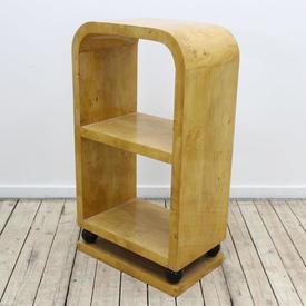 "2'10  x  19"" Maple Art Deco Style 2-Tier Open Bookshelf"