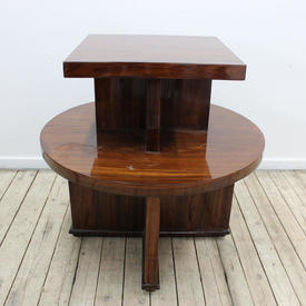 2'6 Cir Rosewood 2 Tier Coffee/Drinks Table with Sq Top