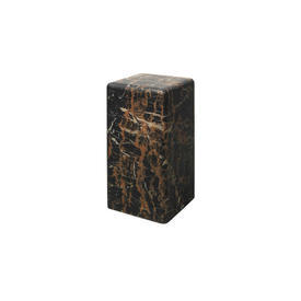 Small Brown Marble Effect Pedestal