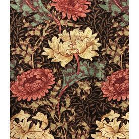 "Pair Drapes 3' x 3'8"" Sanderson William Morris Chrysanthemum"