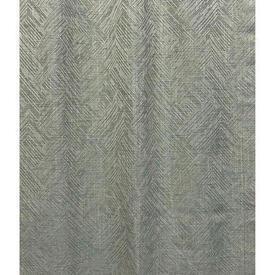 "Pair Drapes 6'6"" x 4' Stone / Pale Aqua Linwood Niva Celadon Chevron Textured"