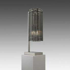 Chrome & Smoked Glass Ribbed 'Pimlico' Table Lamp