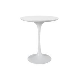 White Circ Tulip Lamp Table