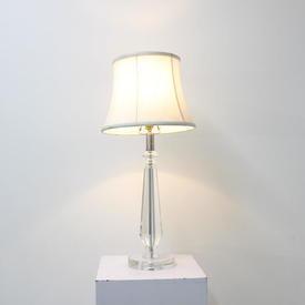 Glass Column Table Lamp Cir Base
