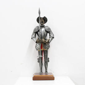 79Cm Spanish Style Model Suit Of Armour with Pike