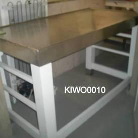Xsp White S/Steel Top Plain Workstation