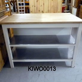 5' X 3'  Beech Top/ All White Or White & S/Steel Shelf Work Station