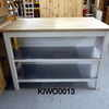 5' X 3'  Beechblock Top / White & S/Steel Shelf Work Station